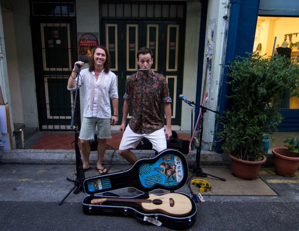 Busking on Haji Lane, Sinapore - Illegal there and cannot get a permit of non resident.