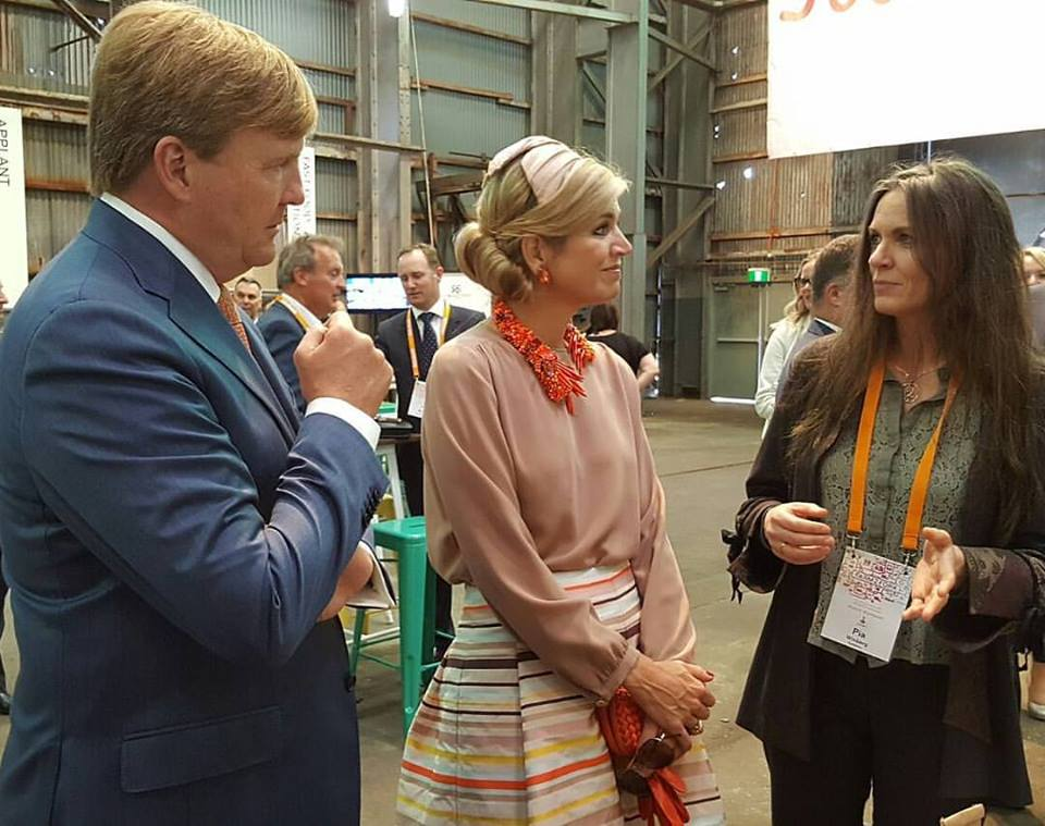 Pia Winberg - Phyco Health - Andy Social Podcast - PhycoFood Co present seaweed to their dutch majesties at Foodbytes in Sydney