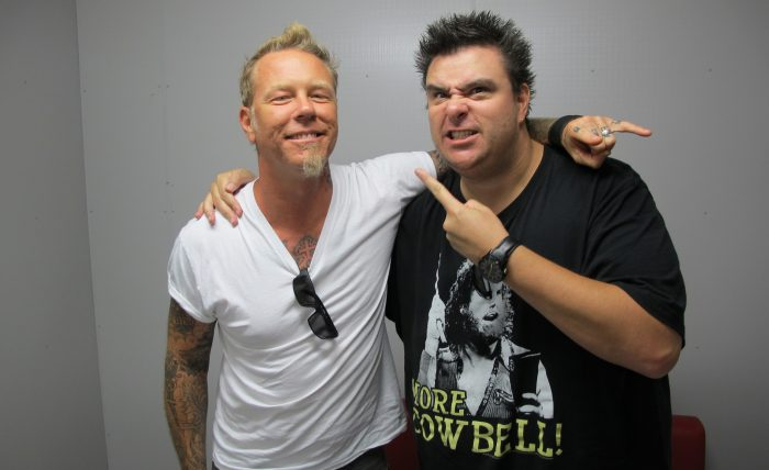 Photo by Hysteria Mag - Dave Higgo Higgins - James Hetfield - Metallica - Andy Social Podcast
