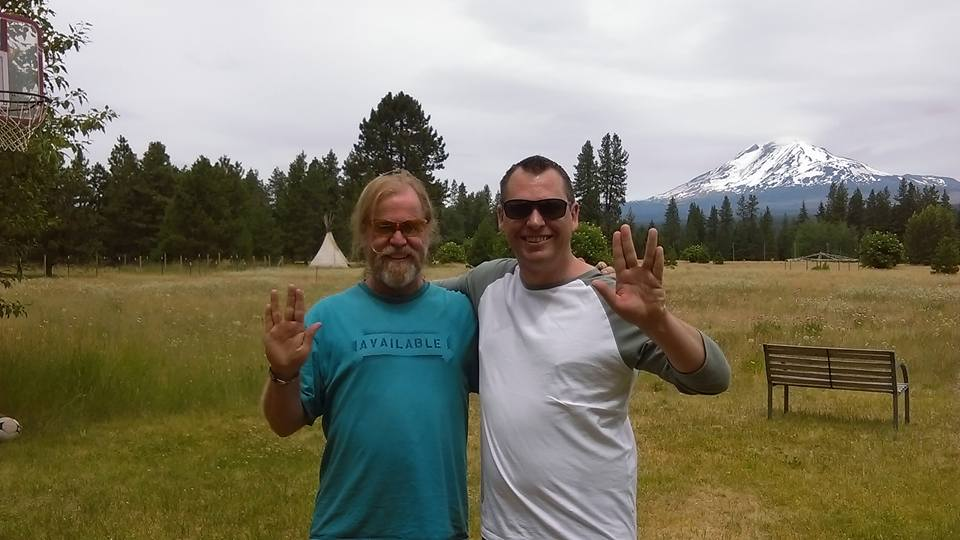 Peter with James Gilliland in the USA - Andy Social