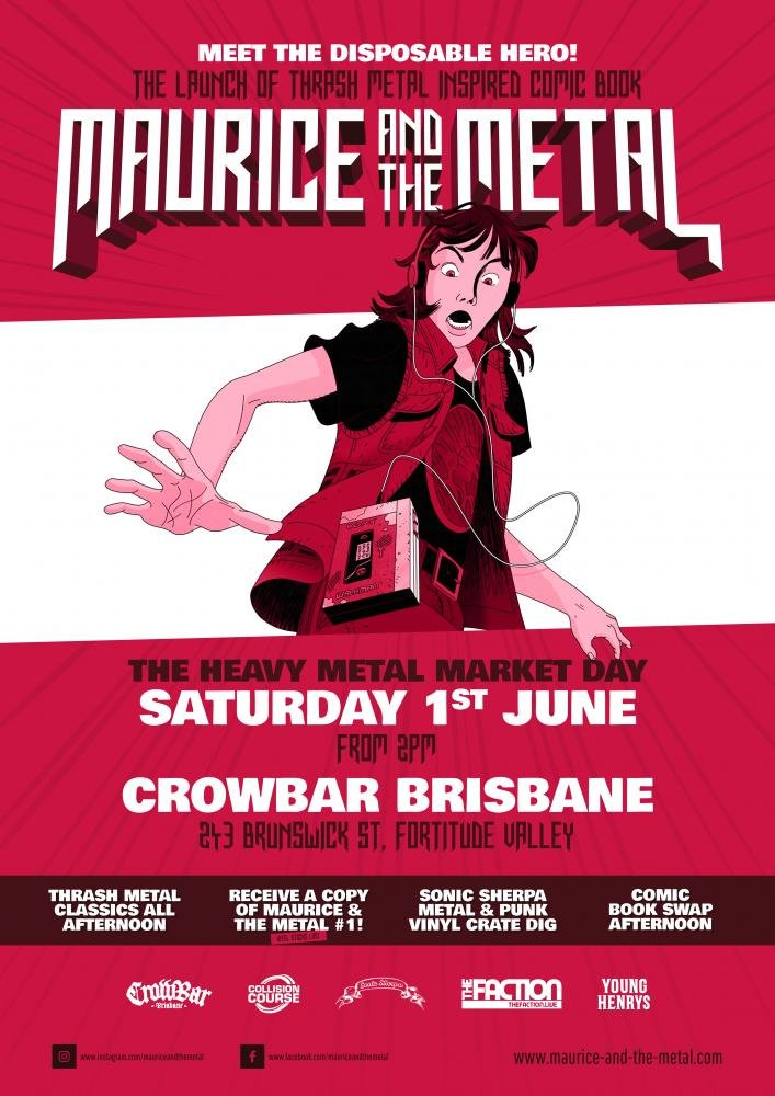 Aaron Sammut - Maurice and the Metal - Andy Social Podcast - Crowbar Brisbane - Heavy Metal Market