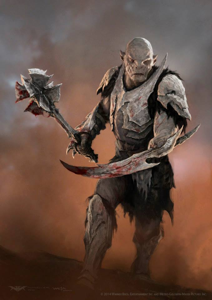 Battle of the Five Armies Concept Art - Stripped back version of Azog's battle armour - Nick Keller - Senior Concept Artist - Weta Digital Workshop - Andy Social Podcast