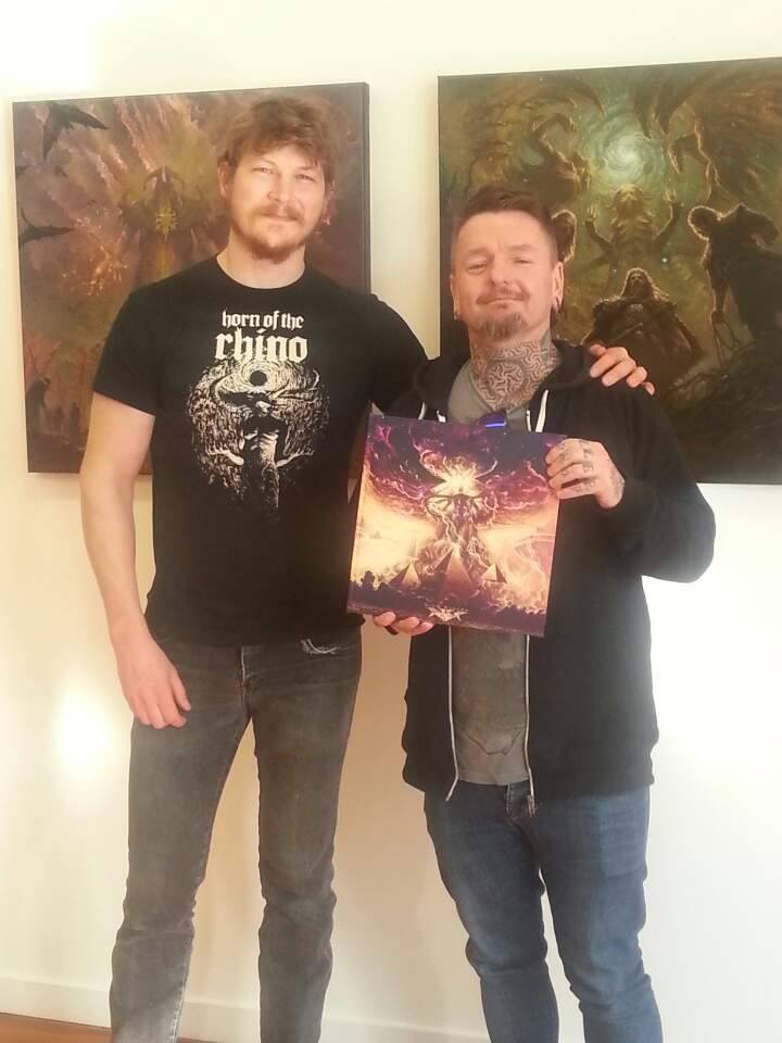Nick with Steve from NZs Bulletbelt for their album Down in the Cold of the Grave - Nick Keller - Senior Concept Artist - Weta Digital Workshop - Andy Social Podcast