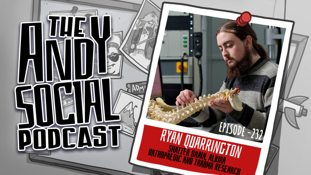 Ryan Quarrington - Shatter Brain - Alkira - Andy Social Podcast - Adelaide Spinal Research Group